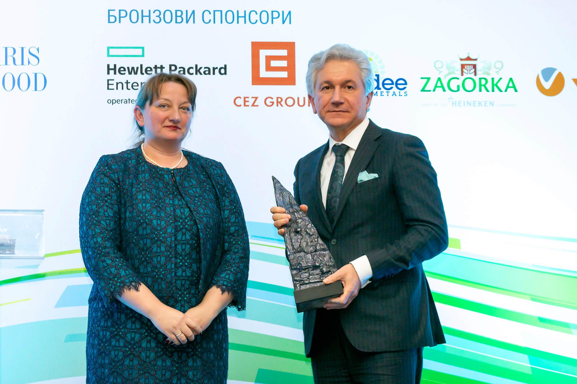 """Награда """"Инвеститор в знанието"""" за TechnoMagicLand"""